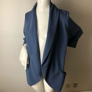Wilfred Jackets & Coats - Wilfred Chevalier Blazer 10 Blue Open front Pocket